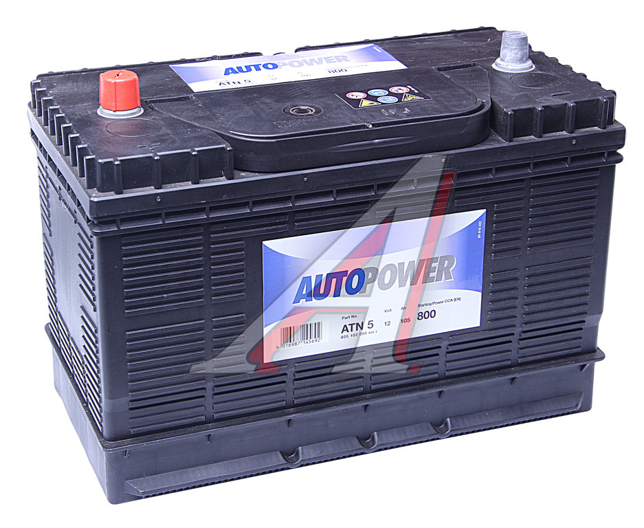 Изображение 1, 6СТ105 ATN-5 Аккумулятор AUTOPOWER 105А/ч