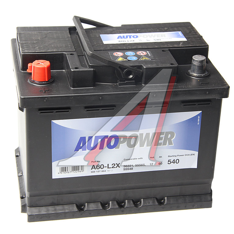 Изображение 1, 6СТ60 A60-L2X Аккумулятор AUTOPOWER 60А/ч